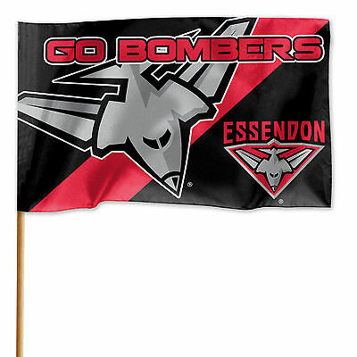 Licensed AFL Essendon Bombers GAME DAY Pole Flag Banner Fathers Man Cave