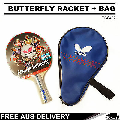 Butterfly TBC402 Table Tennis Bat Racket Short Paddle + Bag Package Free Post