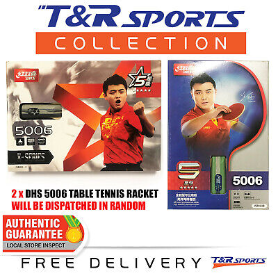 2X Dhs 5002 Long Style Table Tennis Racket Paddle Free Post