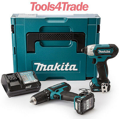 Makita CLX202AJ 10.8V CXT Cordless Li-ion Twin Pack - 2 x 2ah Batteries