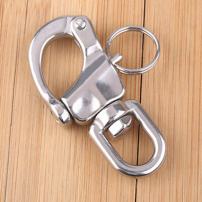 Stainless Steel 304 Marine Boat Swivel Snap Shackle Fixed Bail S-Ring Buckle