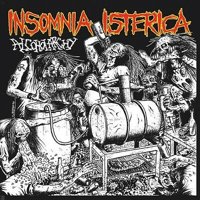 """Insomnia Isterica """"Alcoholarchy"""" green vinyl EP [POWERFUL GRINDCORE FROM SWITZ]"""