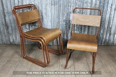 Industrial Look Stacking Chairs Vintage Style Chair With Aged Copper Frame