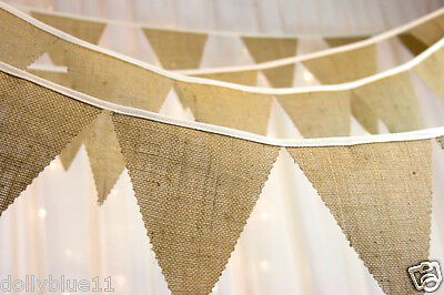 Hessian Burlap Bunting - PYO Length from 1 meter - wedding, barn dance, party