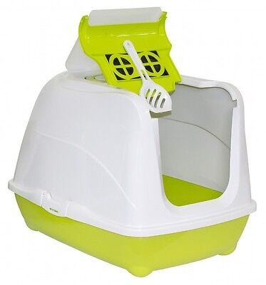 MAISON DE TOILETTE CHAT / BAC LITIERE POUR CHAT FLIP CAT NEUF Ref. AS97391kiwi