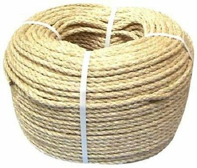 NEW NATURAL SISAL CAT SCRATCH ROPE 6mm x 150 foot (45.72 Meters) PARROT PET TOYS