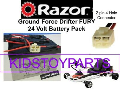 New! 24V Battery Pack for Razor Drifter FURY Ground Force Go Cart With Harness!