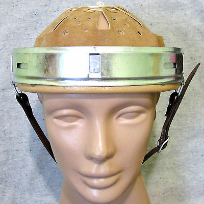 WW2 german helmet Liner with split pins and leather strap. Reproduction 64/57n.A