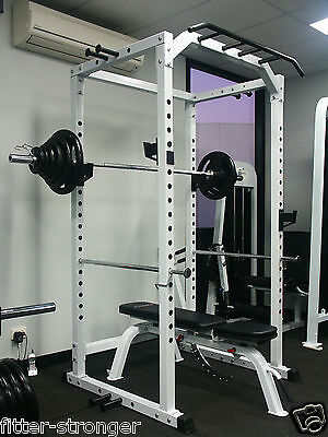 PACKAGE - POWER RACK INCLINE BENCH 100KG Olympic Weight Set CROSSFIT GYM barbell