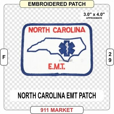 North Carolina EMT Patch NC State EMS Emergency Medical Technician Service - E21