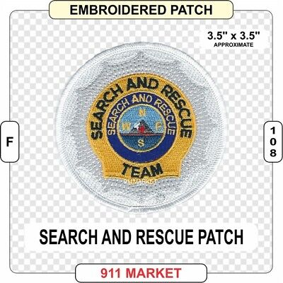 SAR Patch Search and Rescue Team Water Mountain K9 Urban Air Ground & Marine F49