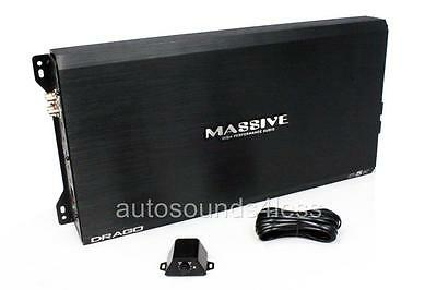 Massive Audio Drago D5K 5,000 Watts Monoblock Class D Car Subwoofer Amplifier