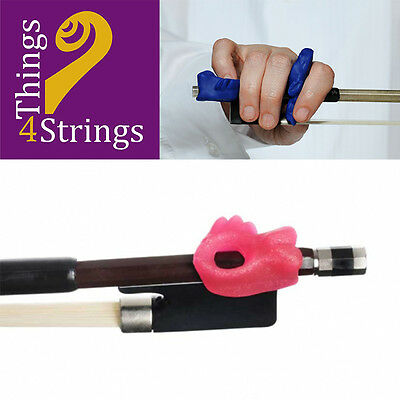 Things 4 Strings Bow Hold Fish for Pinky Support - Sparkly Pink