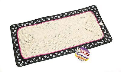 Cat Scratching Mat with Loop for Hanging Cats Kitten Sisal Rope Scratch Mat 58cm