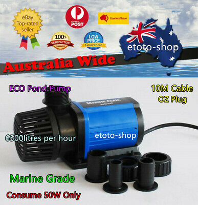 Jebao DM 6500L/H Wet/Dry Slient Eco Pond Pump - 50W Only Energy Saving Quite