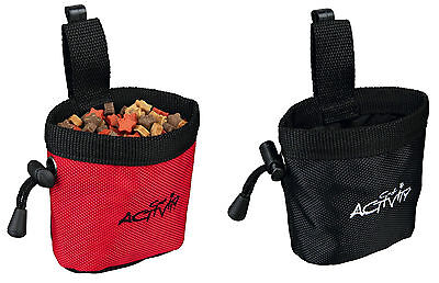 Cat Kitten Treat Bag with Belt Clip Reinforced Border Drawstring Water Repellent