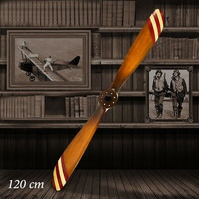 Barnstormer Wooden Vintage Relpica Airplane Propeller - 120cm Red & White
