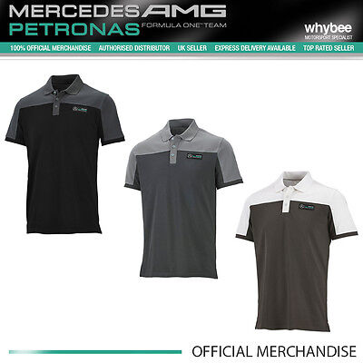 Mercedes-AMG Formula One F1 Team Mens Race Polo Shirt Black/Grey/White S to XXL