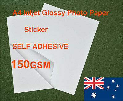 180 sheets A4 150GSM Inkjet Glossy Photo Paper Sticker Adhesive