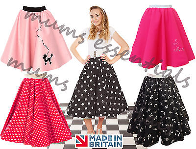 """Ladies 1950's 50's GREASE Style Polka Dot 24""""Length Skirts VINTAGE Fancy Dress"""
