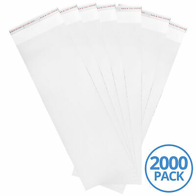 6x18 Inch 3 Mil Adhesive Bag Clear Transparent NY/PE Bag, 2000 Pieces