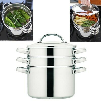 Prestige 77121 Stainless Steel Create 18cm 2.8L Multi Steamer with Glass Lid New
