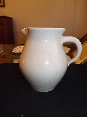 Bybee Pottery Tan Color Pitcher 8 Inches Tall