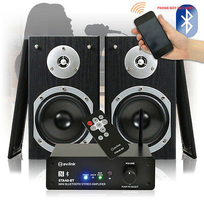 "Home Audio System 5"" Speakers with Wireless Bluetooth Stereo HiFi Amplifier 140W"