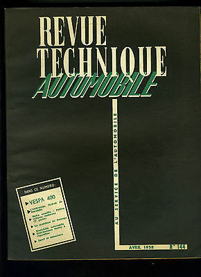 (C17) REVUE TECHNIQUE AUTOMOBILE VESPA 400 / Embrayage Hydrak MERCEDES BENZ