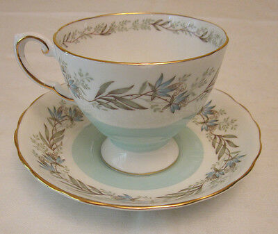 Vintage Tuscan Works Staffordshire  Bone China Cup And Saucer -England