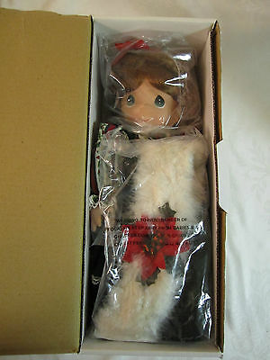 Precious Moments Christmas Holiday 2004 Doll #1155 New & Pristine in Box