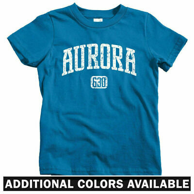 Chicago Bears A-Town IL Aurora 630 Illinois Kids T-shirt Baby Toddler Youth