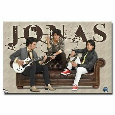 Boy Band Jonas Brothers Couch Poster 34X22 New Fast Free Shipping