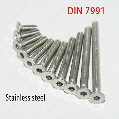 M2.5 304 Stainless Steel Allen Hex Socket Countersunk Flat Head Machine Screws