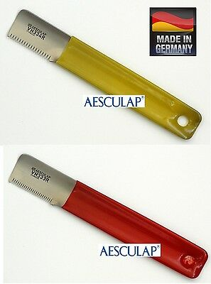 "AESCULAP ""McClellan Style""Hand STRIPPING KNIVES Hair Coat Stripper Carding Knife"