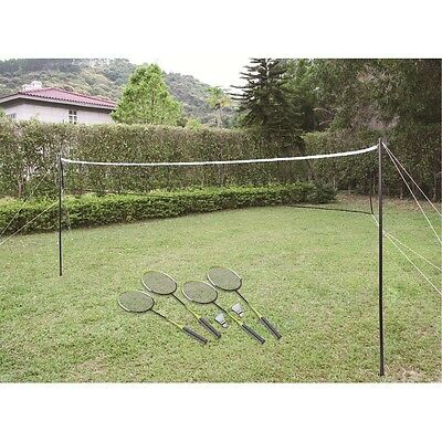 Stats 4 Player Badminton Set Rackets, Shuttlecocks & Net Included