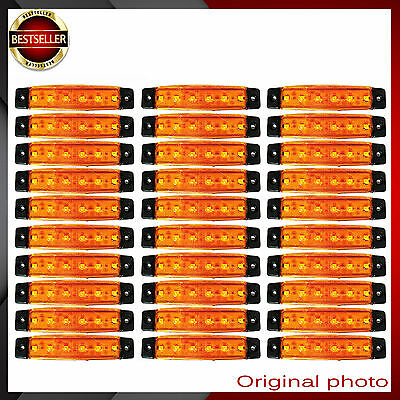 30x 24V 6 SMD LED ORANGE SIDE MARKER INDICATOR LIGHT LAMP TRUCK TRAILER LORRY AA