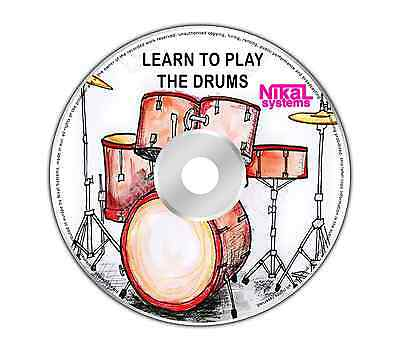 Learn how to play the drums DVD video tutorial guide drum lessons tuition