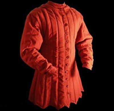 Medieval Thick Red Historical Padded Gambeson Aketon Armor LARP A12