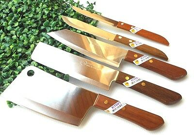 Set 5 Thai knife chef kitchen knives cooking stainless steel kiwi cutlery blade