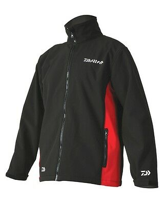 Daiwa Softshell Fishing Jacket - Red/Black - All Sizes