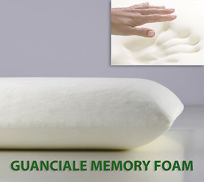OFFERTA Guanciale Memory Foam Cuscino Letto 15 Cm Pillow Made in Italy SARANI