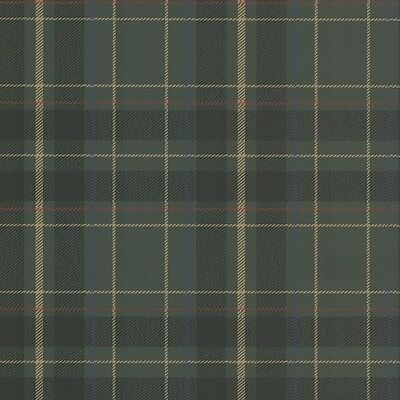 Fine Decor- Caledonia Tartan Tan - Green - Oxford Collection - Wallpaper FD21225