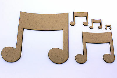 Music Note, Craft Shapes, Embellishments, Decorations, 2mm MDF Wood.Card Topper