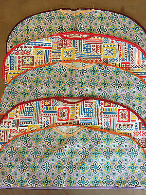 "5 Vintage 1930's FABRIC Hanger Covers Cotton Unused 18"" X 7.5"" Clean"