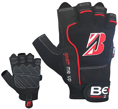 Bex Gel Weight Lifting Gloves Training Body Building Gym Training Strap Leather