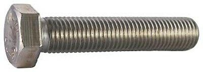 "Stainless Steel 1/4-28 x 1"" UNF Fine Thread Hex Bolt pack of 10"