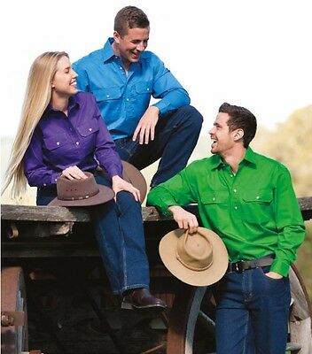 Country Wear Pilbara Mens, Ladies & Kids Closed Front Work Shirt - RRP 34.95