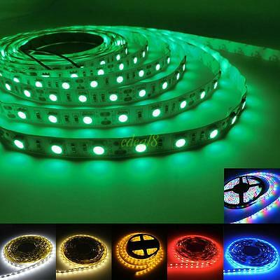 5050 SMD 300 LEDs 1M 5M Warm Cool White RGB Red Flexible DC 12V LED Strip Light