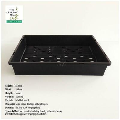 Corrugated SEEDLING TRAYS (4, 8 or 20pack). Propagation punnets tube pots jiffy.